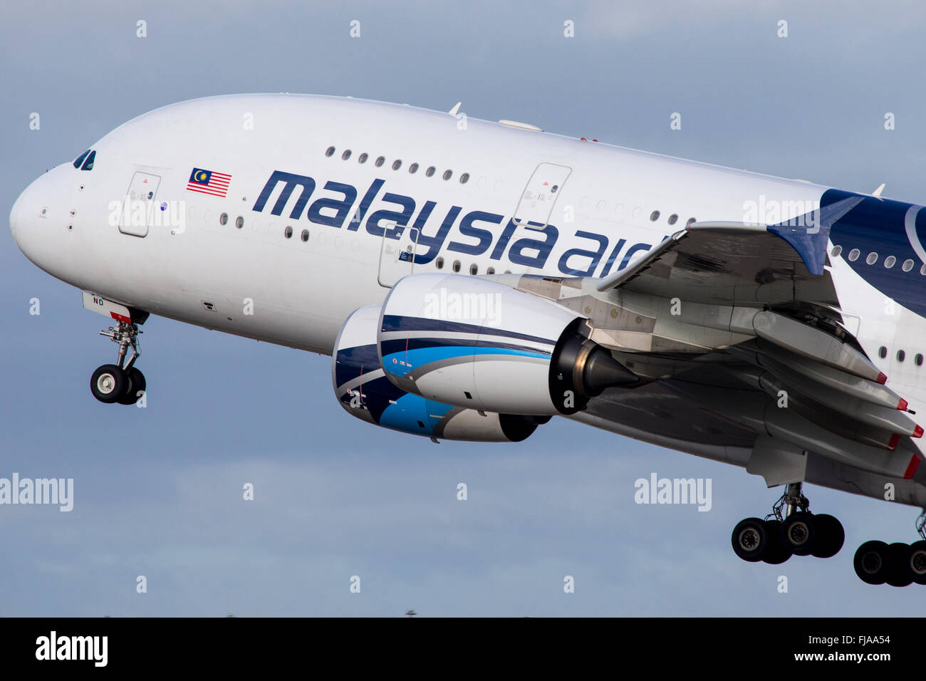 Malaysian Airlines Airbus A380 Aircraft - Stock Image