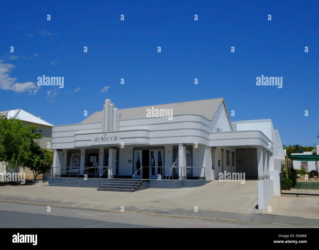 Art Deco Showroom Cinema and Theatre in Prince Albert, Klein Karoo, Western Cape, South Africa - Stock Image