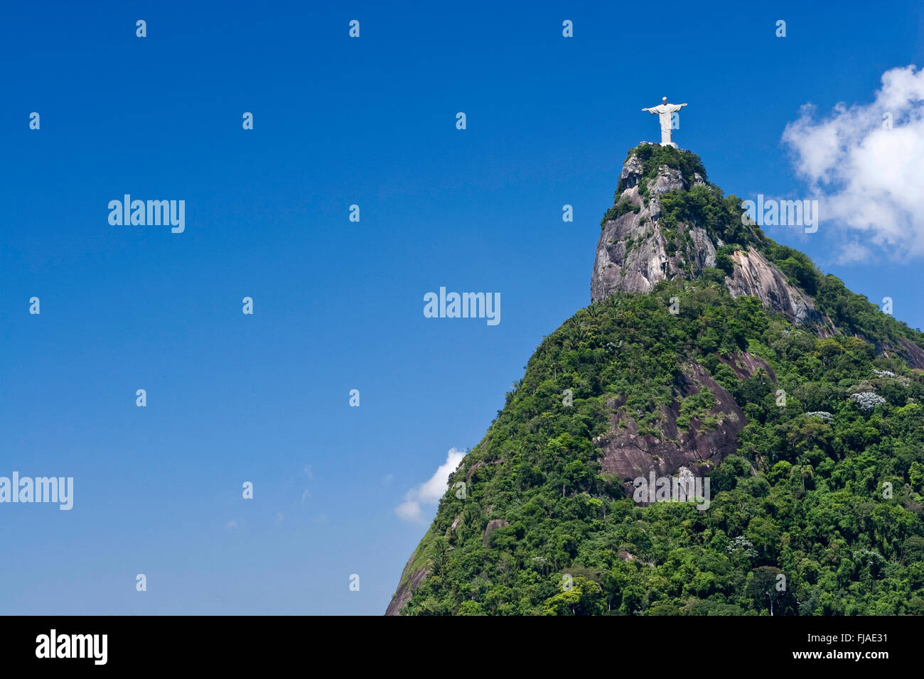 Christ statue on Corcovado mountain, Rio - Stock Image