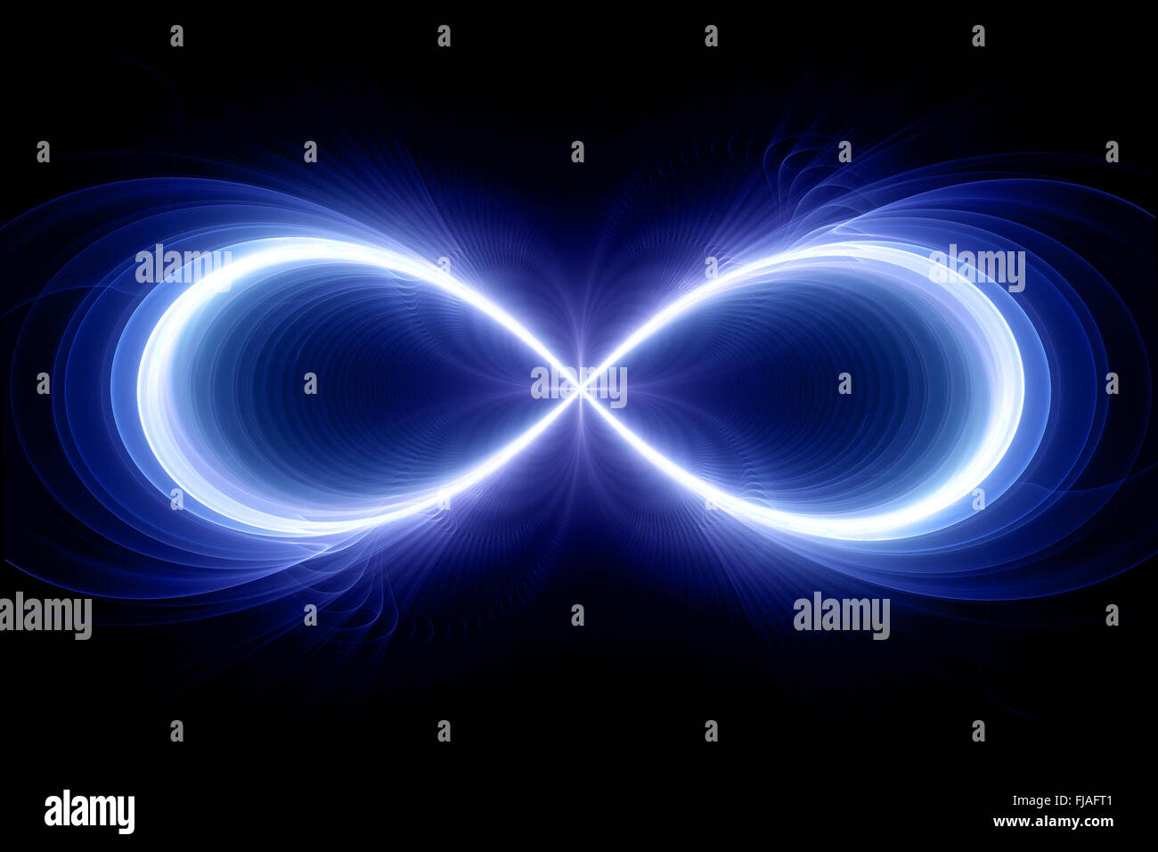 Infinity sign computer generated fractal background