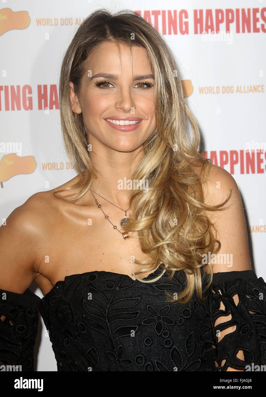 Jan 25, 2016 - London, England, UK - Vogue Williams attending 'Eating Happiness' - VIP screening at the - Stock Image
