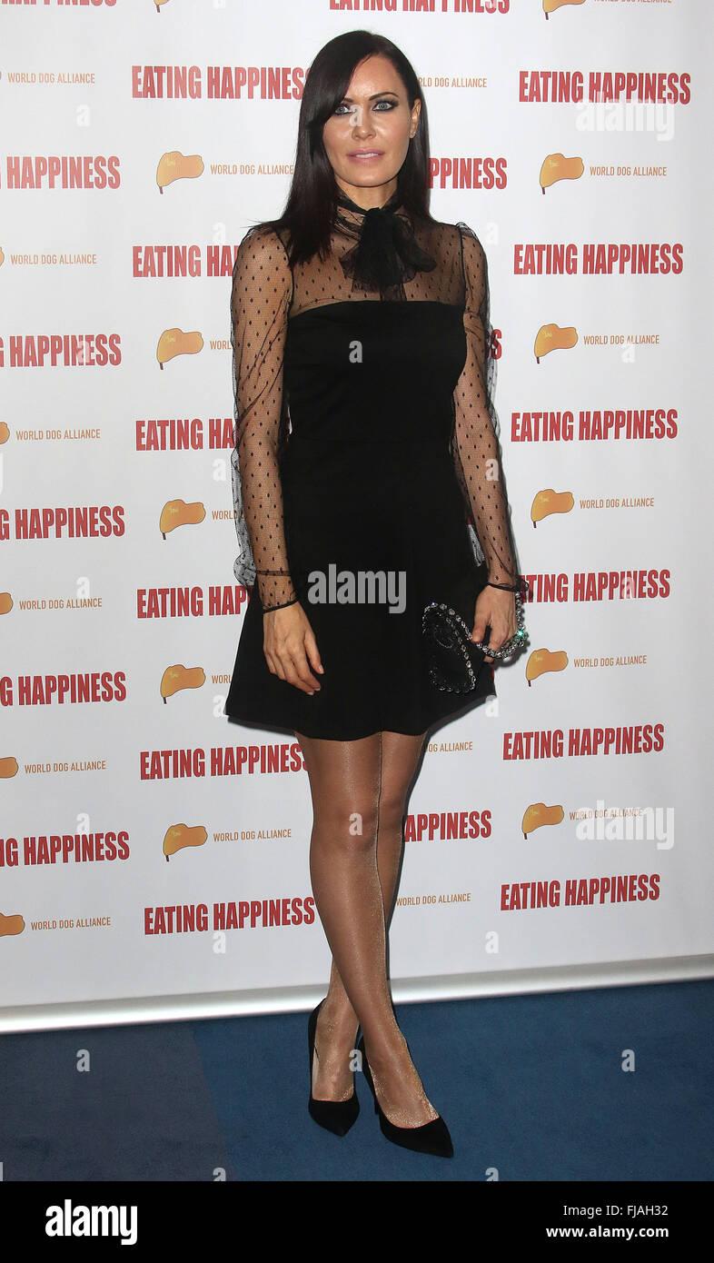 Jan 25, 2016 - London, England, UK - Linzi Stoppard attending 'Eating Happiness' - VIP screening at the - Stock Image