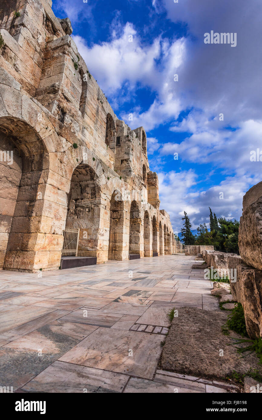 Odeon of Herodes Atticus, Athens Greece - Stock Image