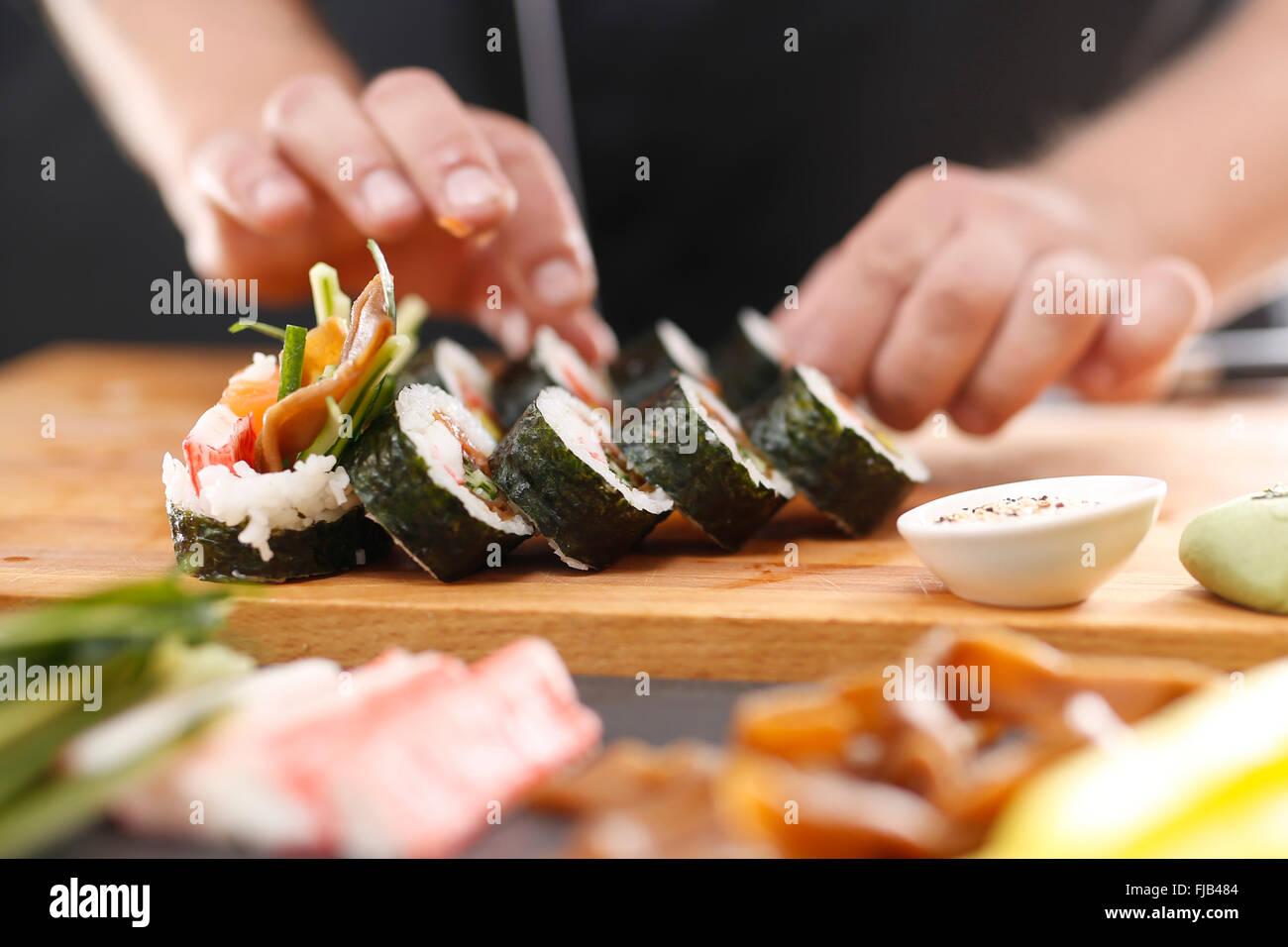 Classic Japanese Sushi Sushi Smoked Salmon Nigiri Sushi Japanese