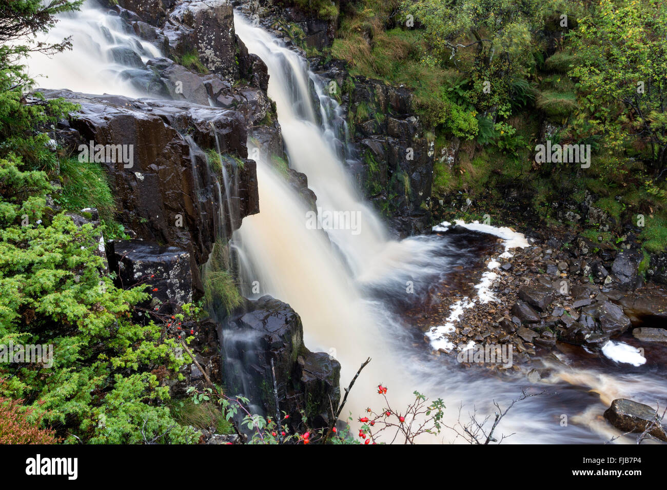 Bleabeck Force Upper Teesdale County Durham UK - Stock Image