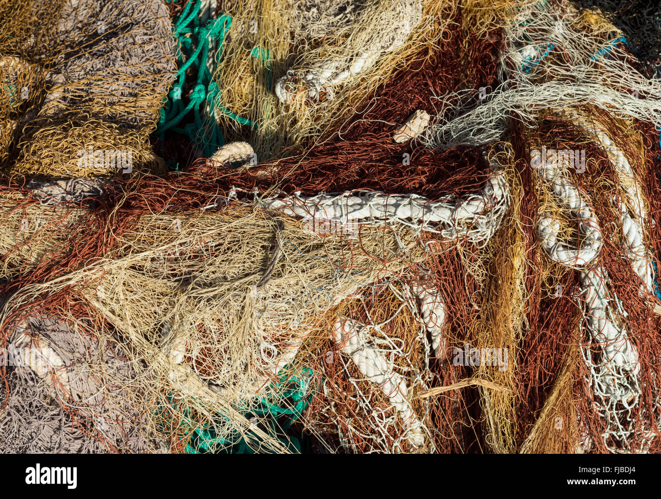 Pile of fishing-nets - Stock Image