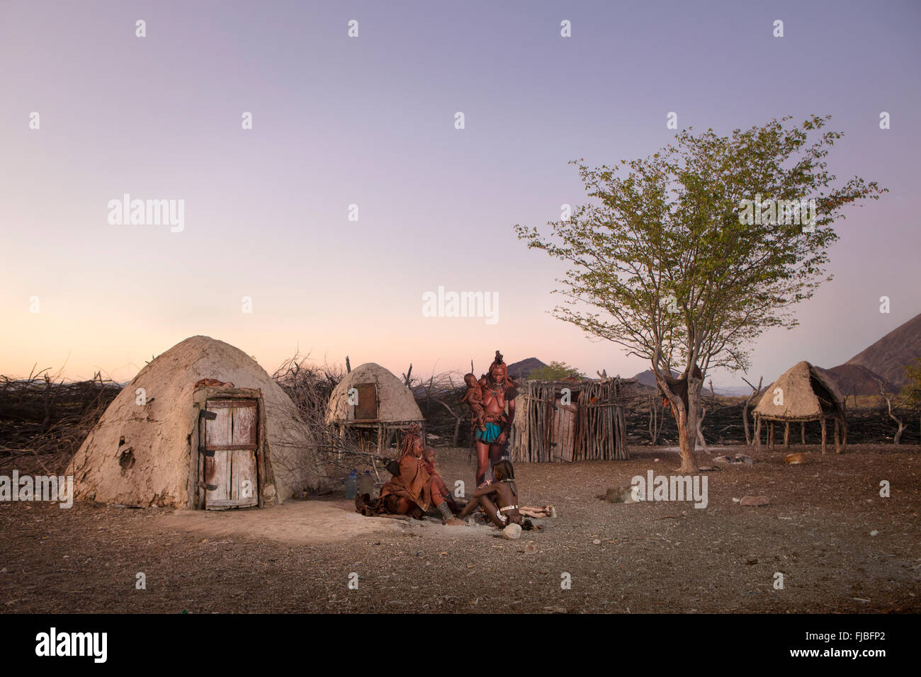 Himba women in Namibia - Stock Image