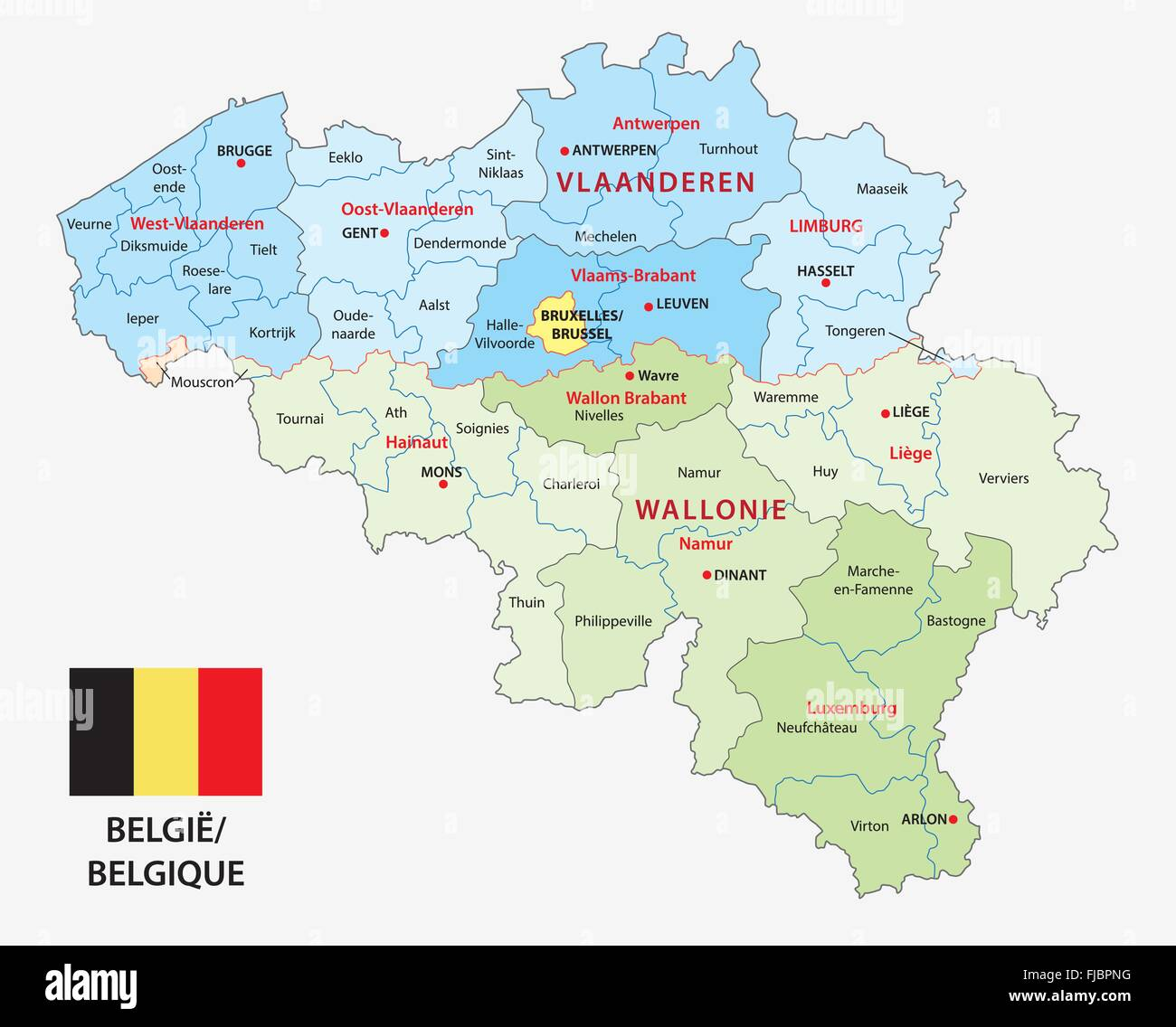 Map Belgium Stock Photos Map Belgium Stock Images Alamy