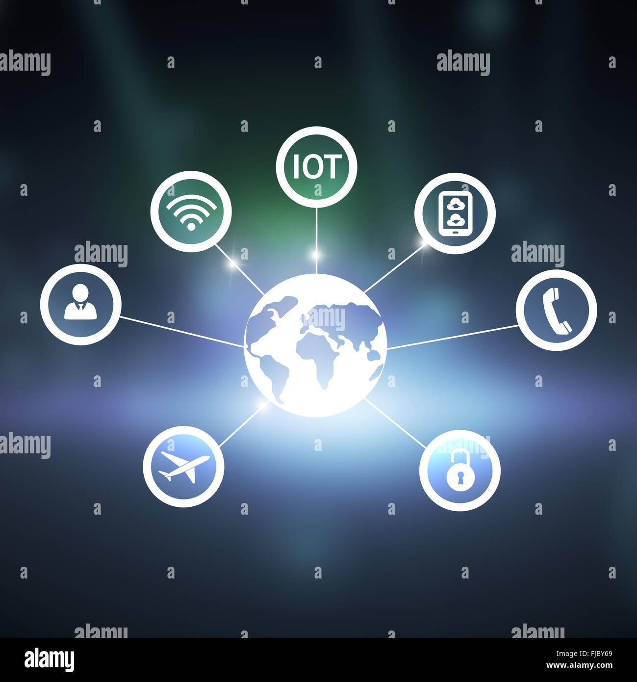 Composite image of internet of things - Stock Image