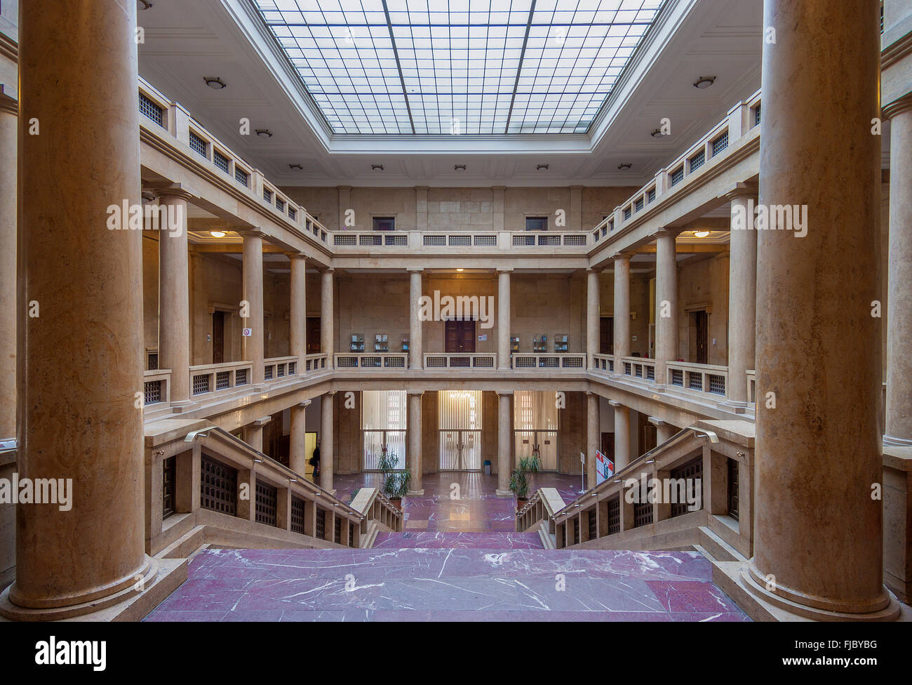 Entrance hall, Academy of Music and Theatre, built in 1937 for Adolf Hitler for representational purposes, Munich, - Stock Image