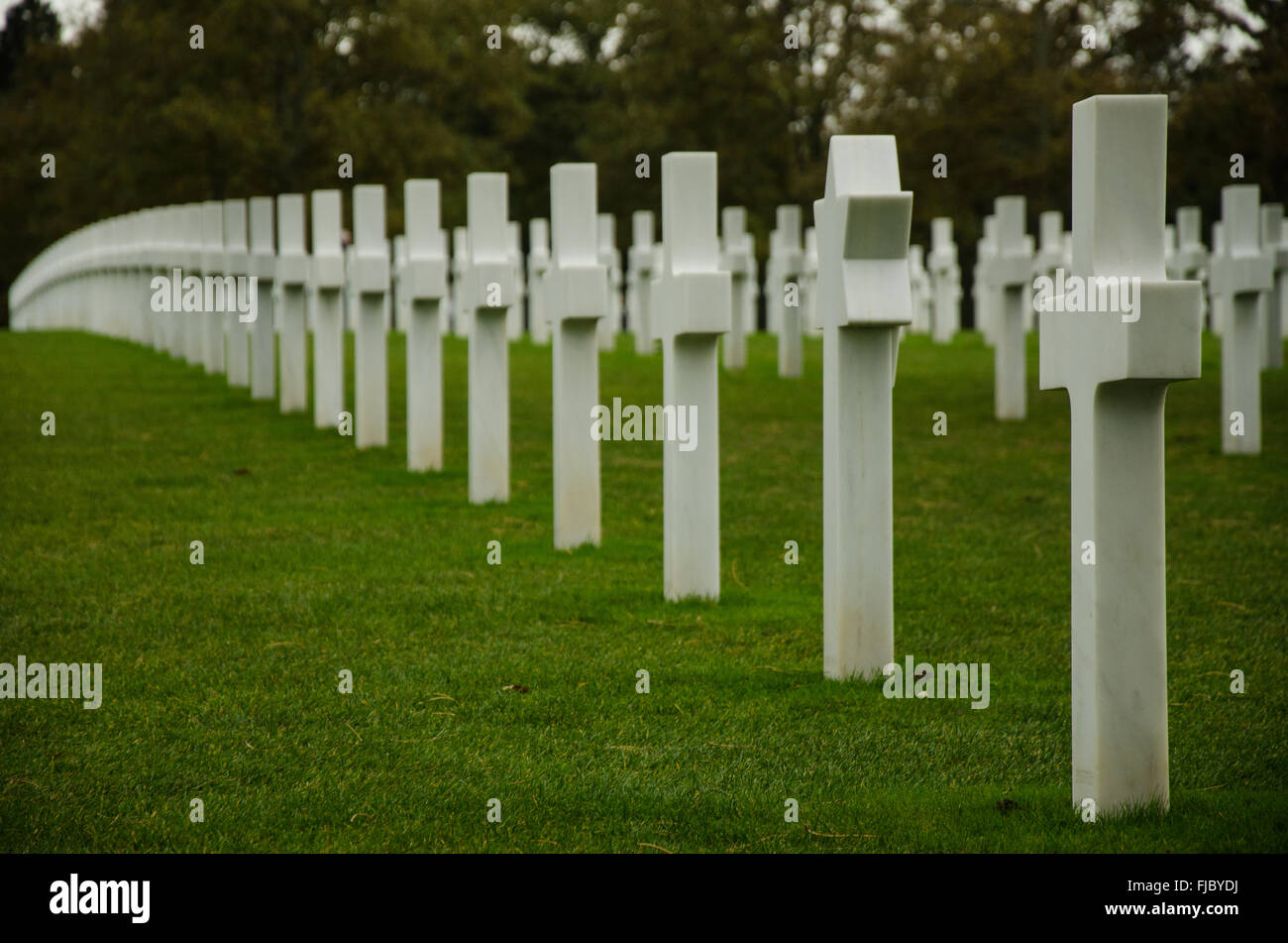 The Normandy American Cemetery in Colleville-sur-Mer, Normandy, France. Stock Photo