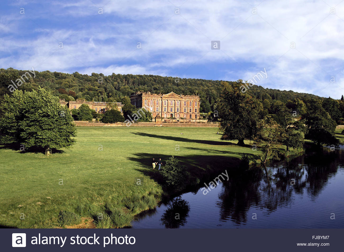 Chatsworth House Derbyshire Peak District - Stock Image