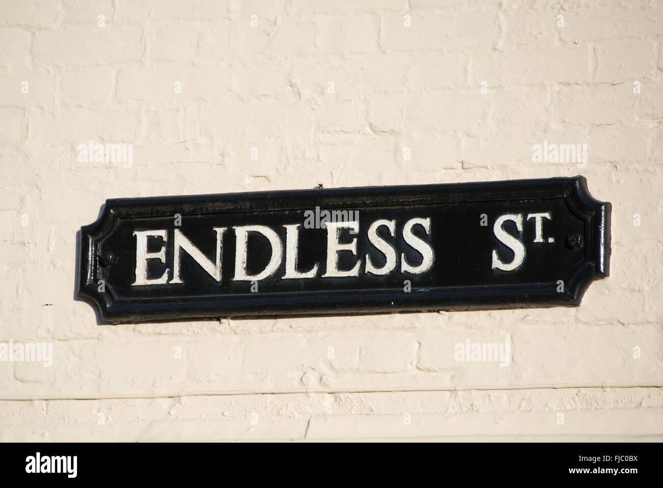 'Endless Street' in Salisbury, Wiltshire, England, UK - Stock Image