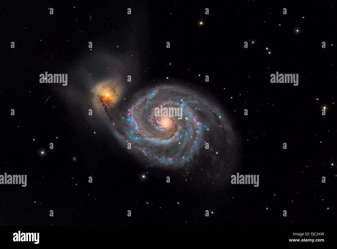 The Whirlpool Galaxy - Stock Image