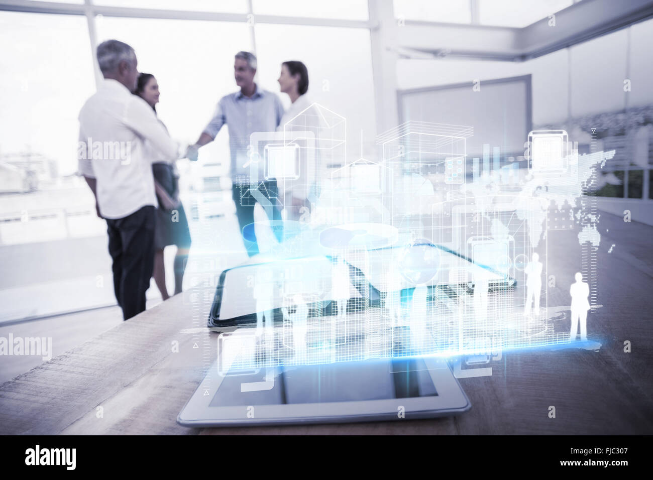 Composite image of digital interface - Stock Image