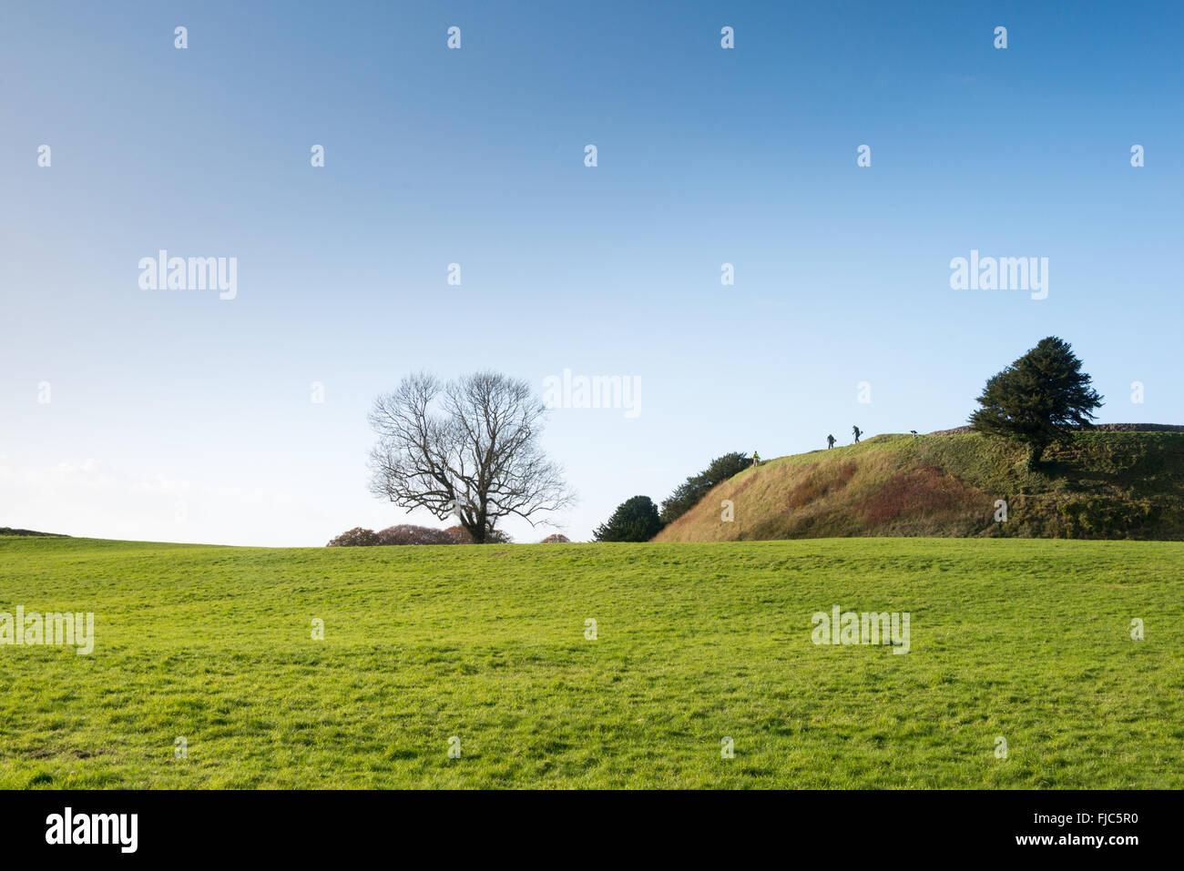 Old Sarum, Salisbury, Wiltshire, England, UK Stock Photo