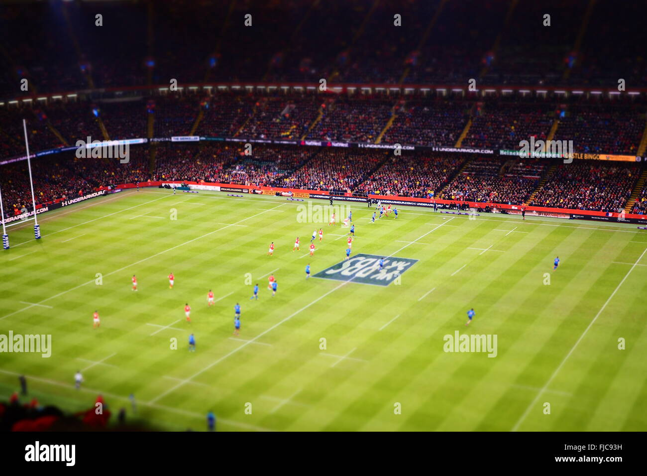 Cardiff,Wales,UK : rugby Six Nations match between Wales and France at Millennium Stadium on 26 February 2016 - Stock Image