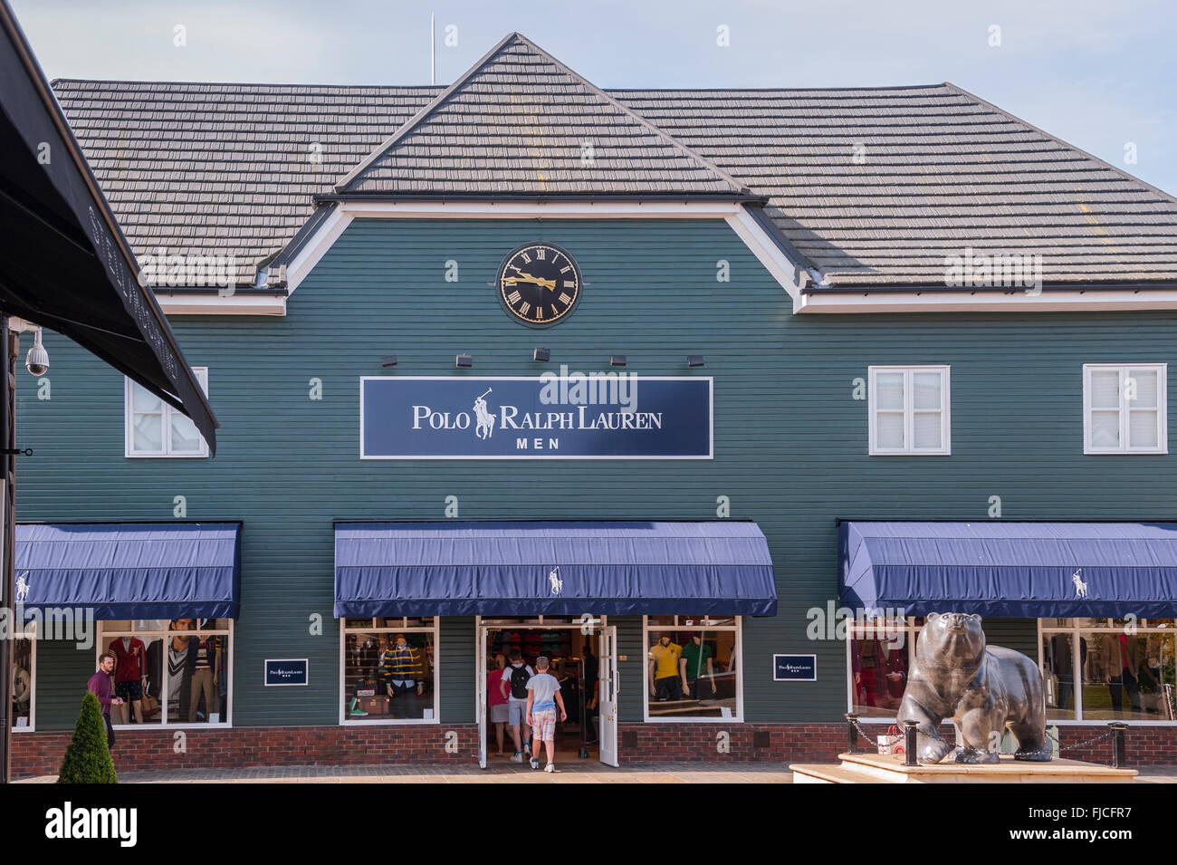 The Polo Ralph Lauren shop store at Bicester Village in Bicester , Oxfordshire  , England , Britain , Uk - Stock Image