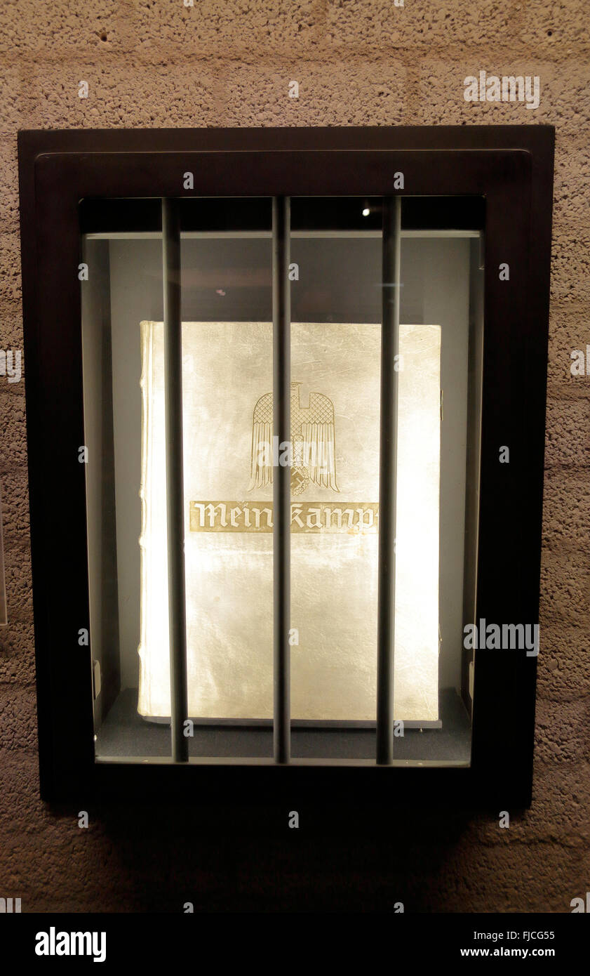 A copy of Adolf Hitler's 'Mein Kampf' given to Nazi leaders during WWII in the Overloon War Museum in - Stock Image