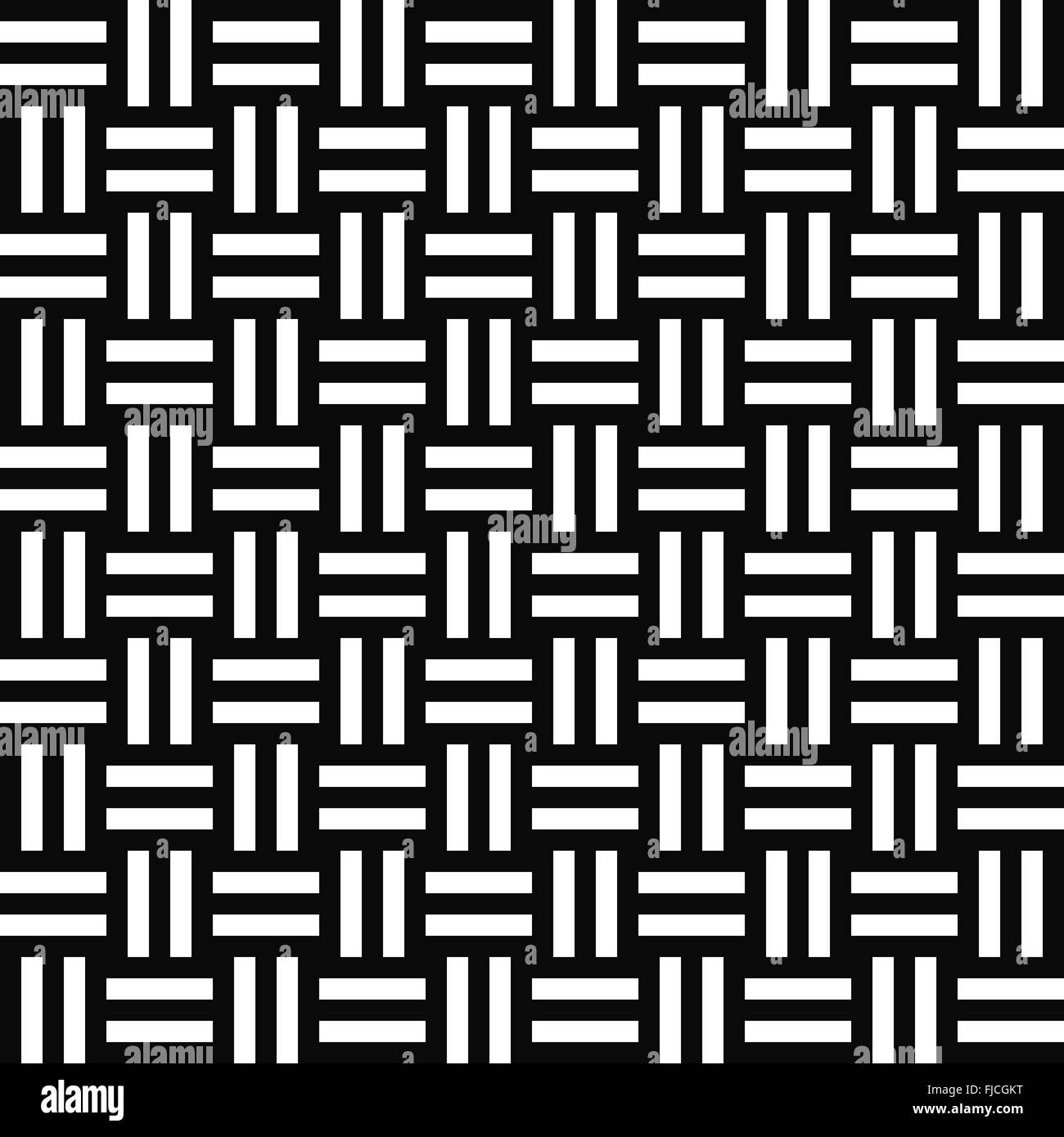 Simple repeating monochrome stripe pattern - Stock Vector