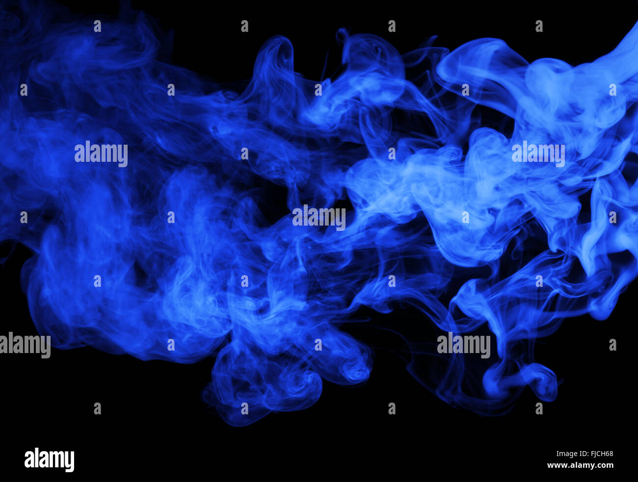 navy blue steam on the black background. - Stock Image