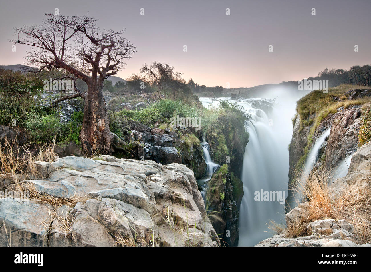 Epupa Falls In Namibia. - Stock Image