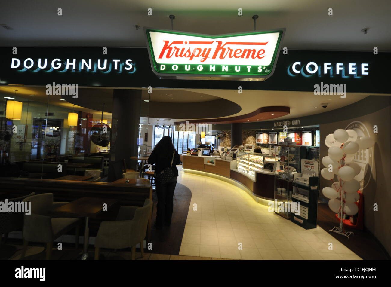 Krispy Kreme Doughnuts, Inc. is an American global doughnut company and coffeehouse chain based in Winston-Salem, - Stock Image