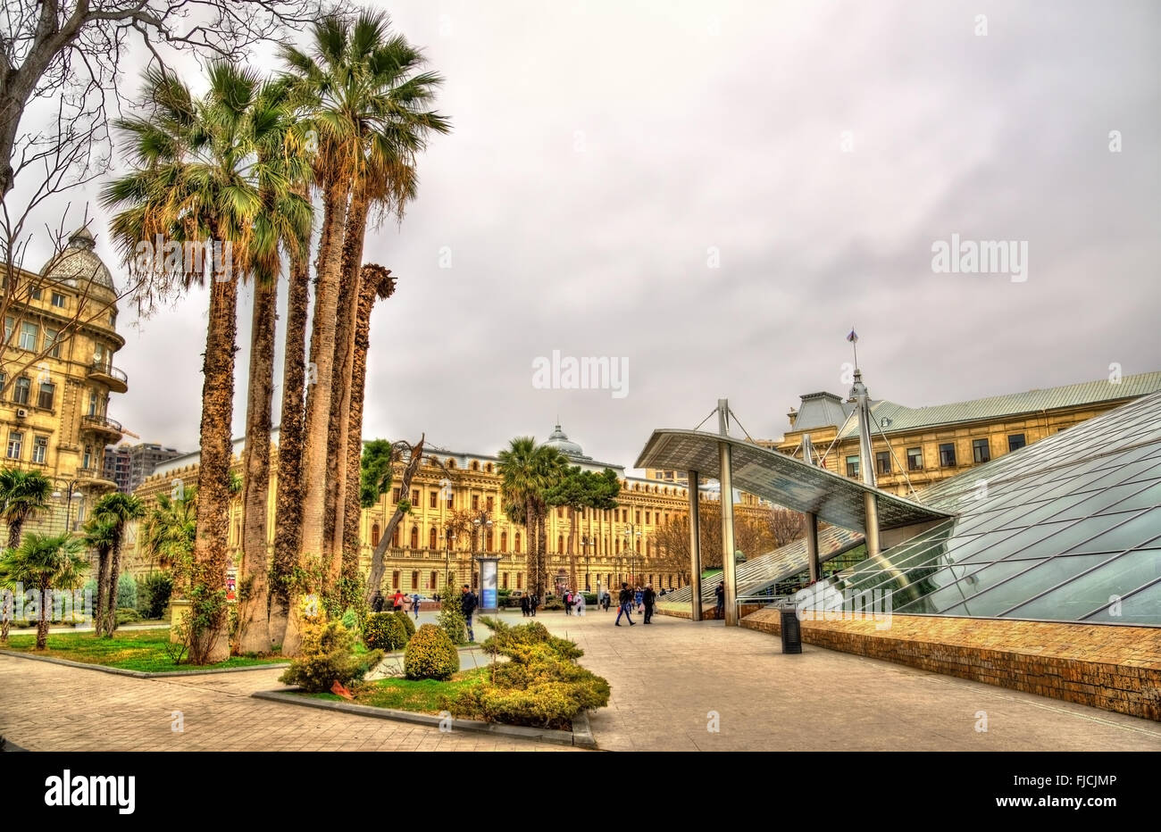 Exit from Icheri Sheher metro station in Baku - Stock Image