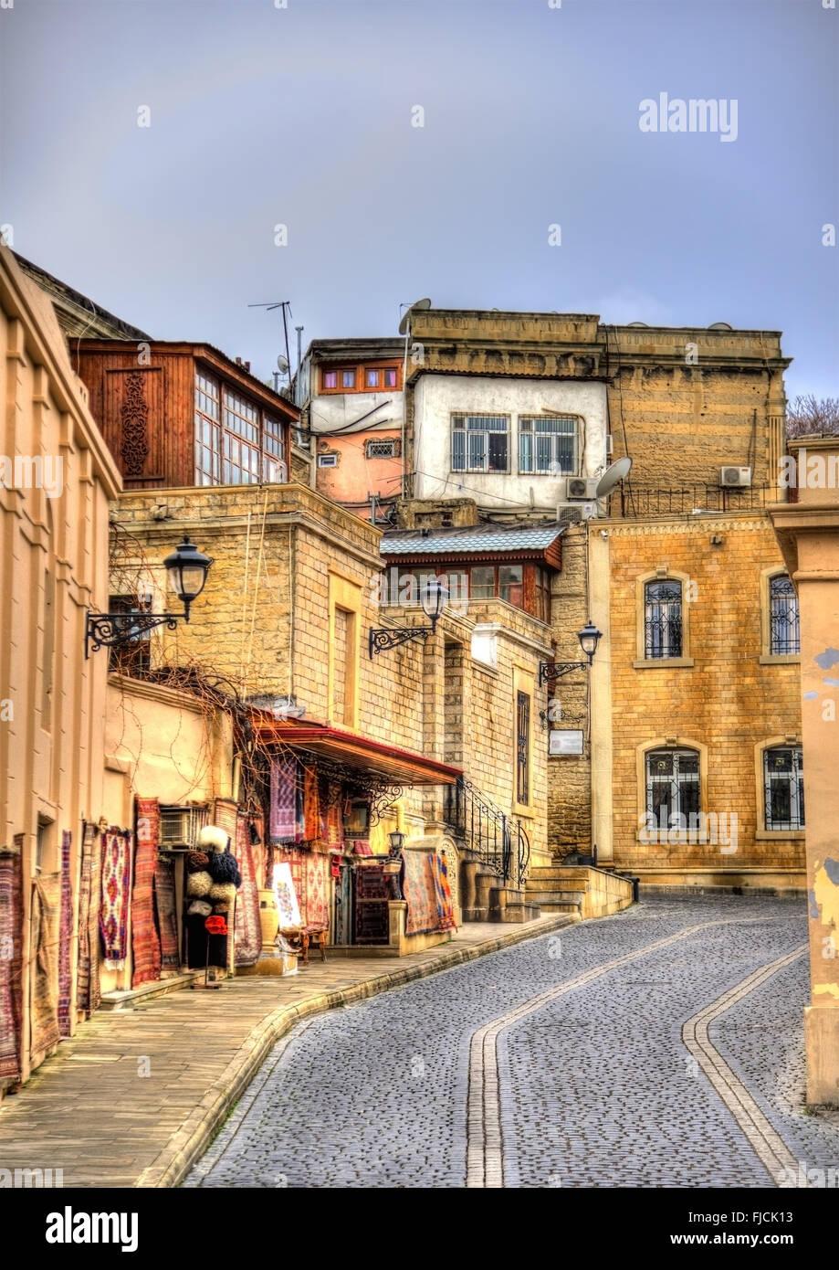 Icheri Sheher, the Old Town of Baku - Stock Image