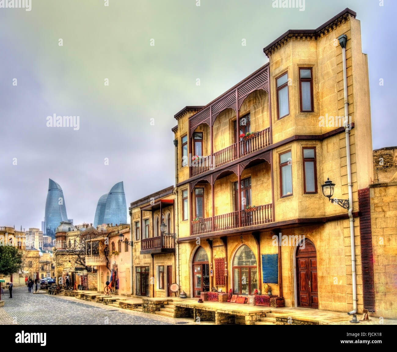 Icheri Sheher, the Old Town of Baku - Stock Image