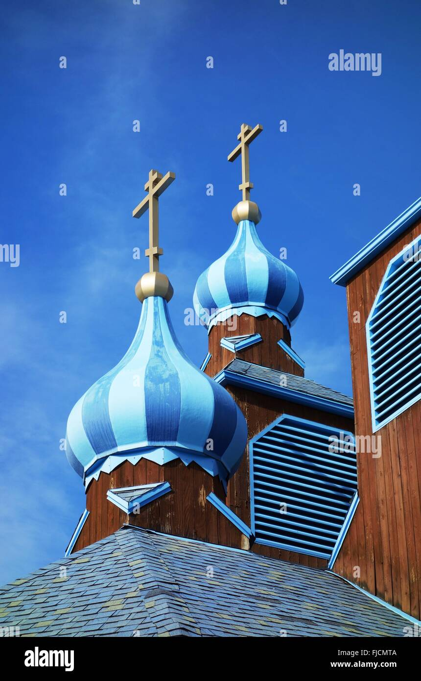 The St. Innocent Cathedral of the Russian Orthodox Diocese of Alaska in Anchorage - Stock Image