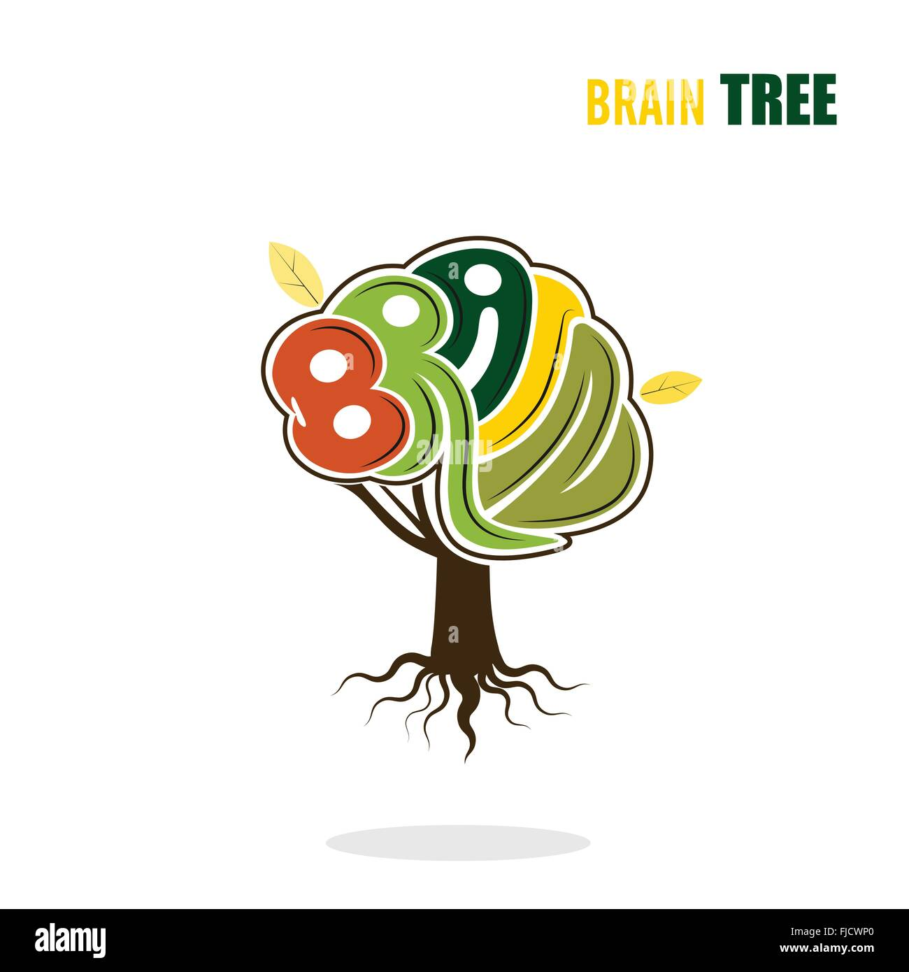 Abstract vector brain tree logo templateink green concept abstract vector brain tree logo templateink green concept industrial and education conceptctor illustration flashek Images