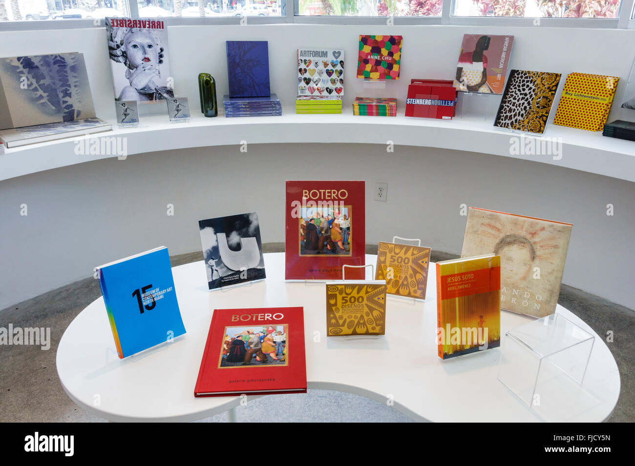 North Miami Florida Museum Of Contemporary Art Gallery Artwork Gift Shop Books Display Sale Shopping