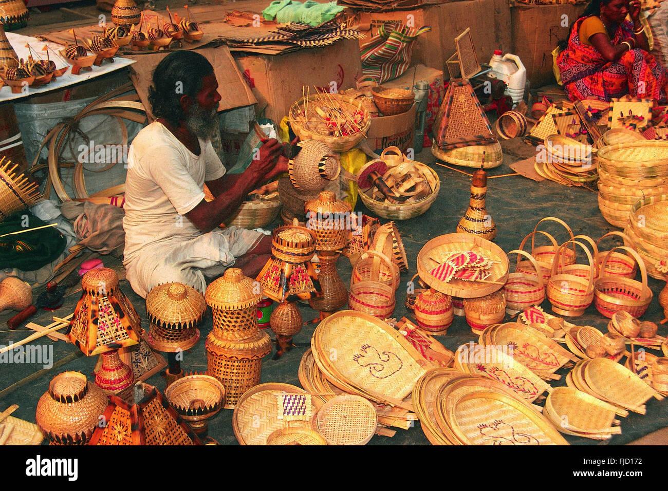 Bamboo Handicrafts India Stock Photos Bamboo Handicrafts India