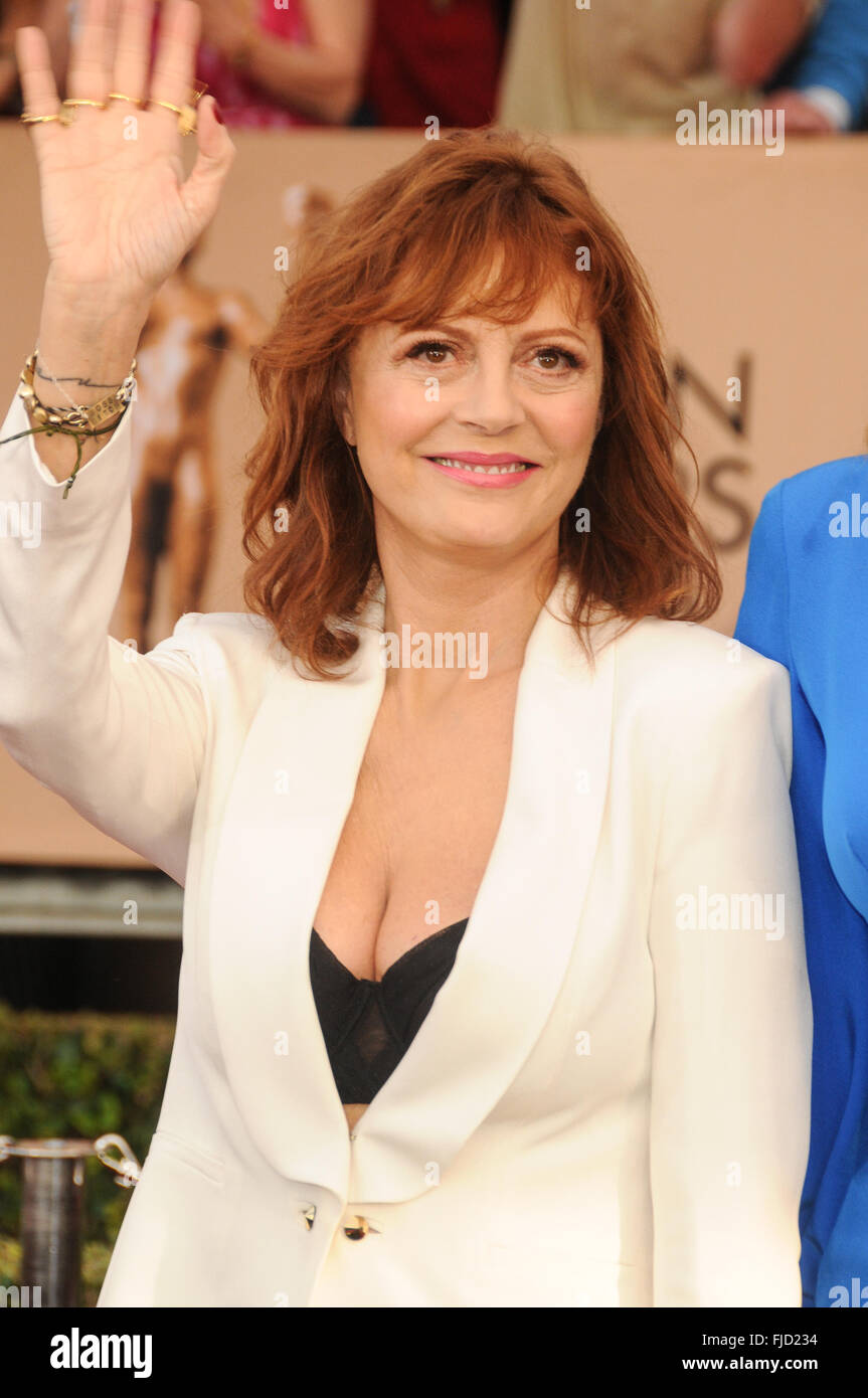22nd Annual Screen Actors Guild Awards at The Shrine Expo Hall - Arrivals  Featuring: Susan Sarandon Where: Los - Stock Image