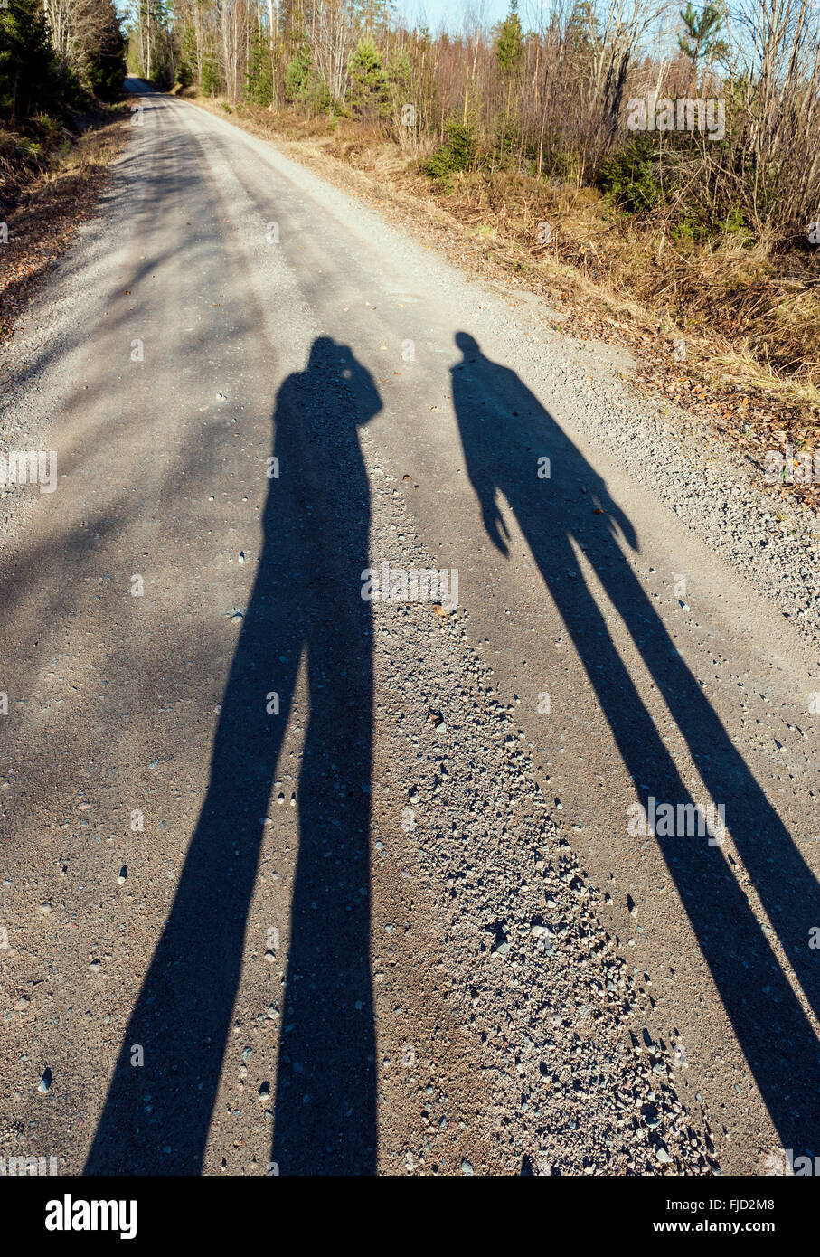 Body shadows Stock Photo