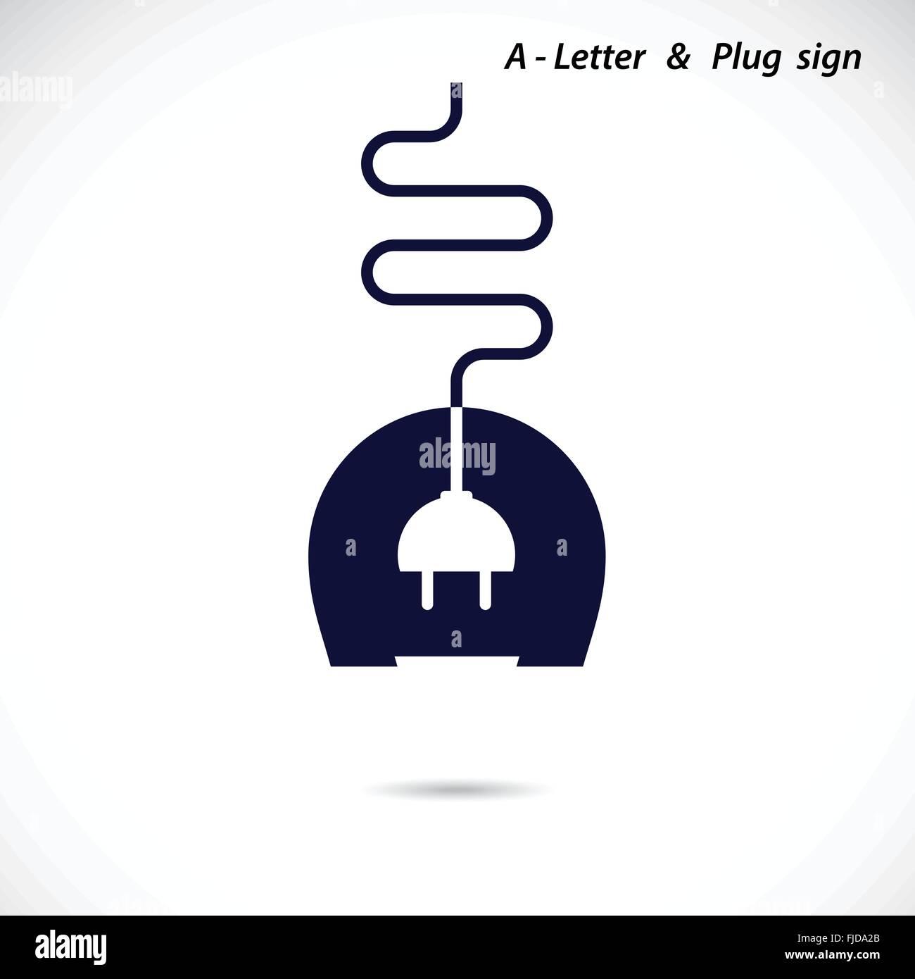 Creative A- Letter Icon Abstract Logo Design Vector