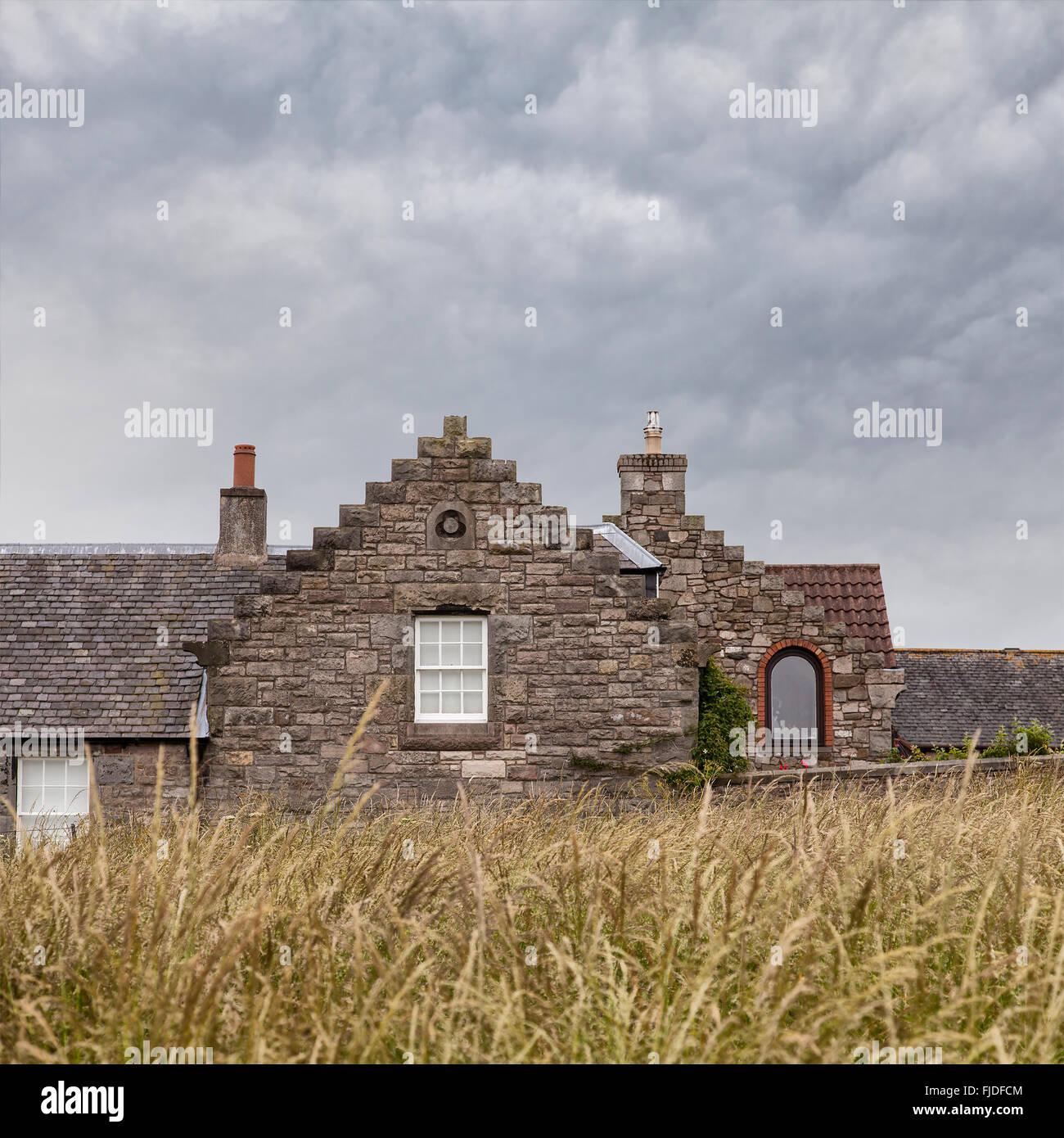 Stone House Cottage Garden Stock Photos & Stone House