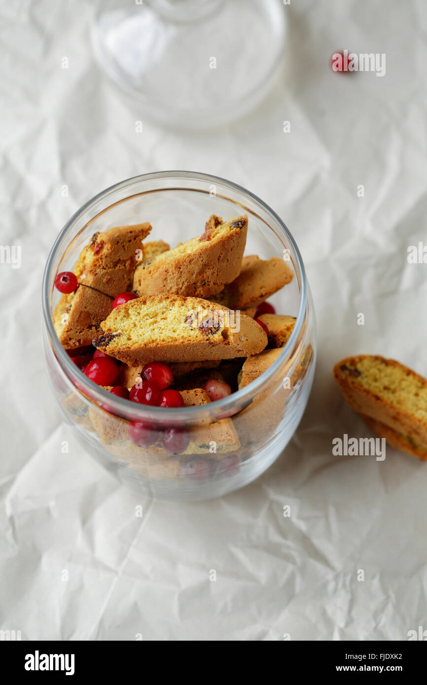 homemade cookies in jar, food - Stock Image