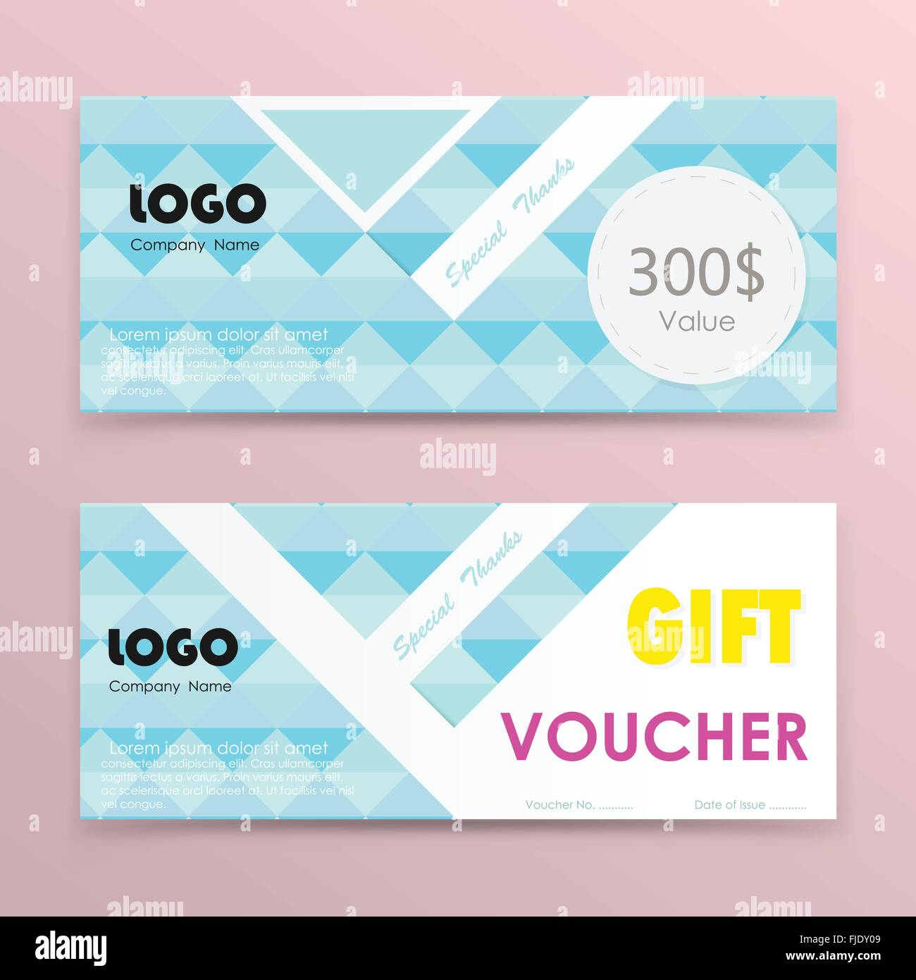 Gift voucher background or certificate coupon template with clean ...