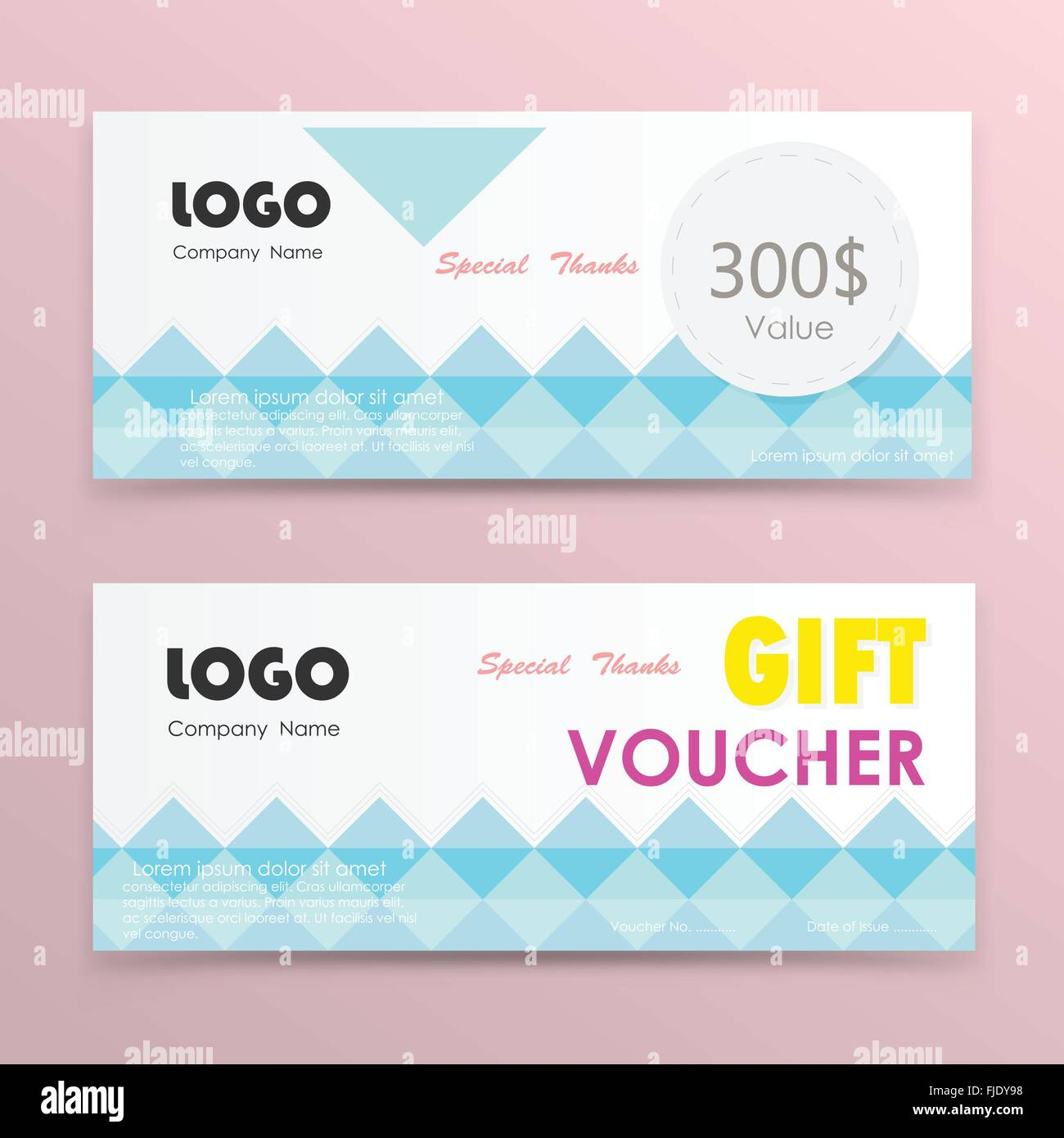gift voucher background or certificate coupon template with clean premium modern pattern designvector illustration