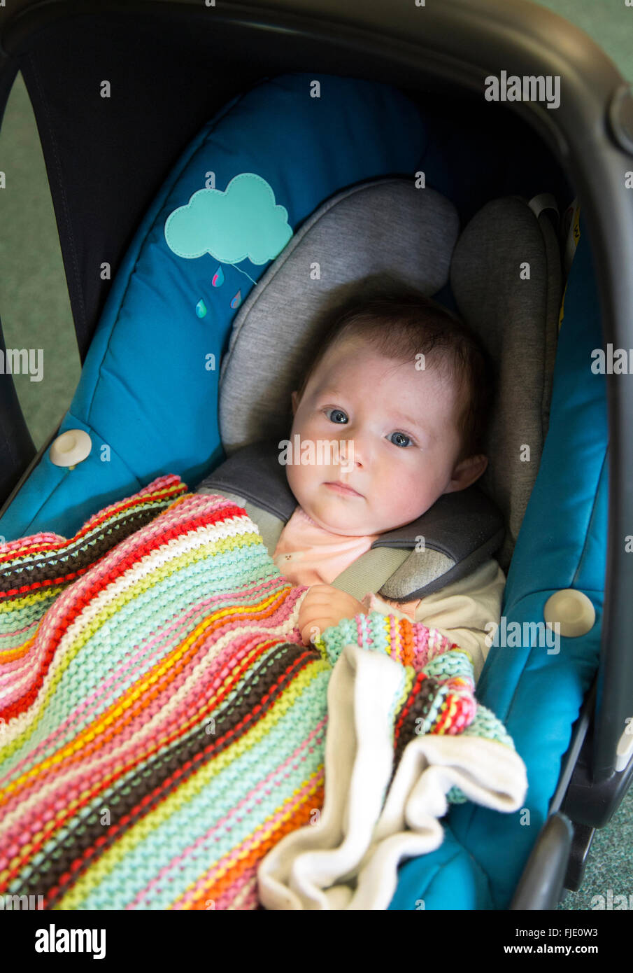 3 month old baby in a car seat Stock Photo: 97423679 - Alamy