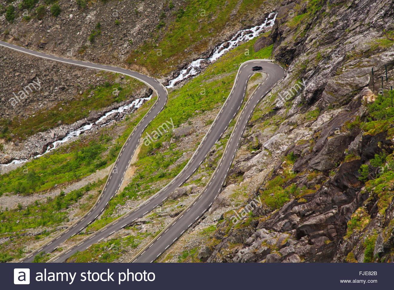 Trollstigen (Troll's Footpath), Norway - Stock Image