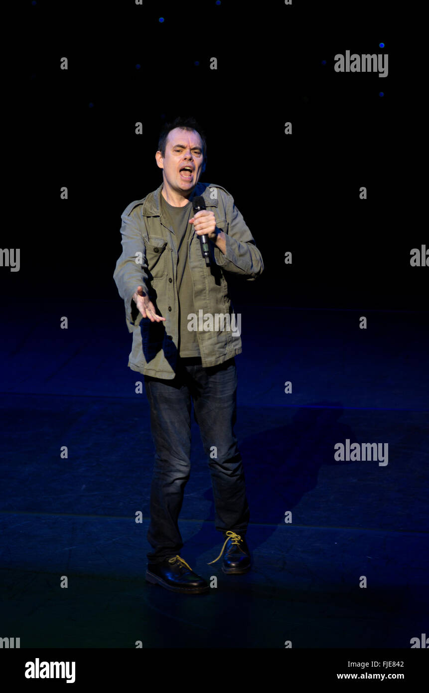 Comedian live at A Belter for the Shelter comedy fundraising night for Hackney Winter Night Shelter October 2013 - Stock Image