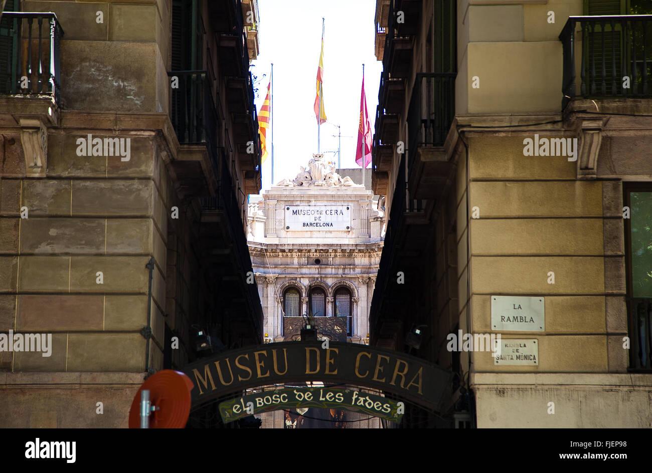 A Wax Museum - Museo de cera de in Barcelona - Stock Image