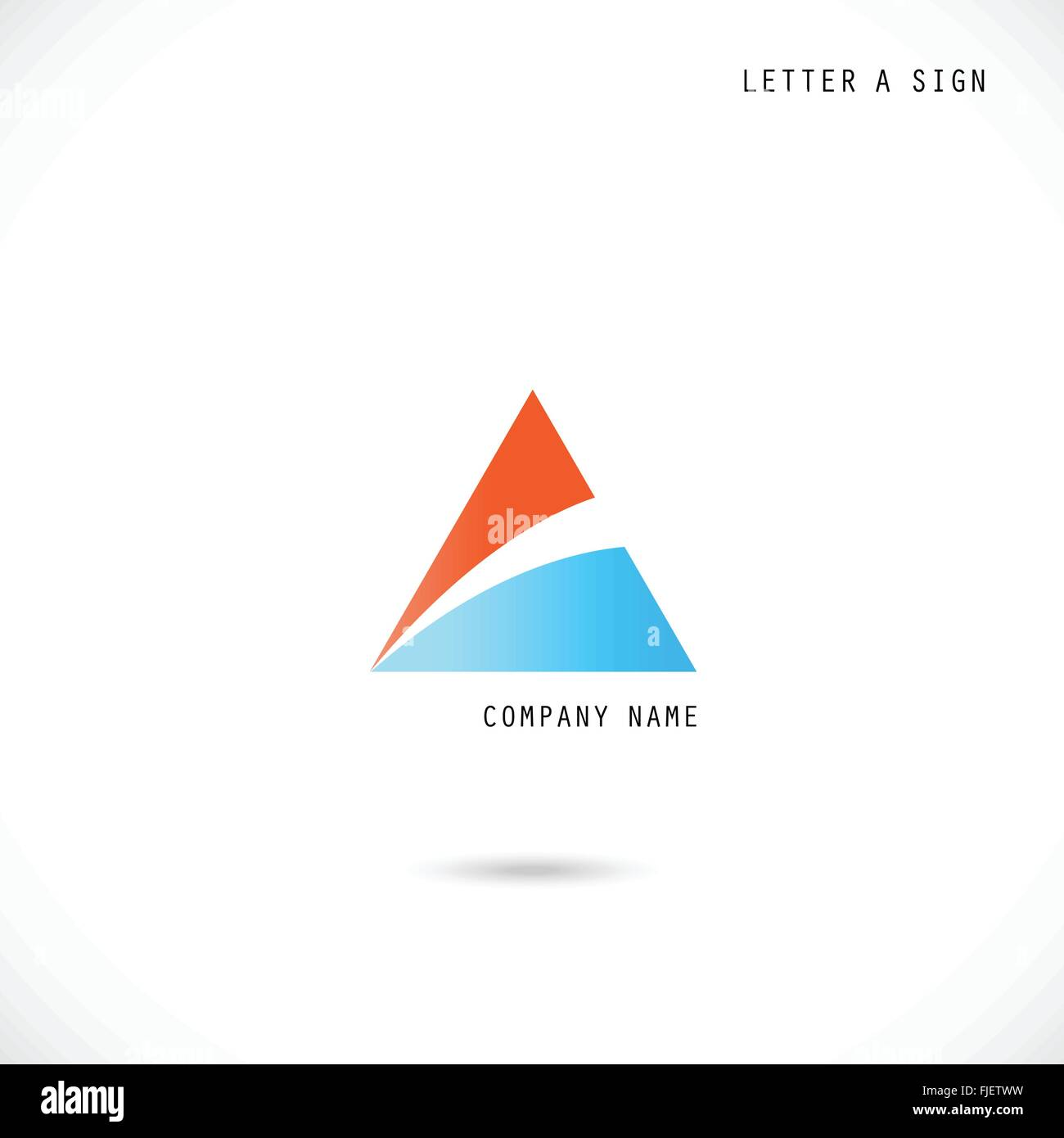 Creative Letter A Icon Abstract Logo Design Vector Template Stock