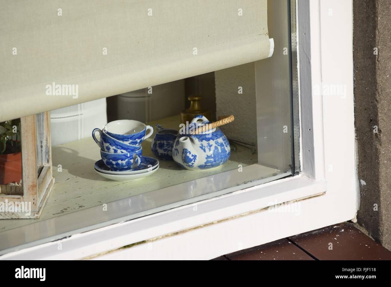 Delft pottery - Delft Blue. - Stock Image
