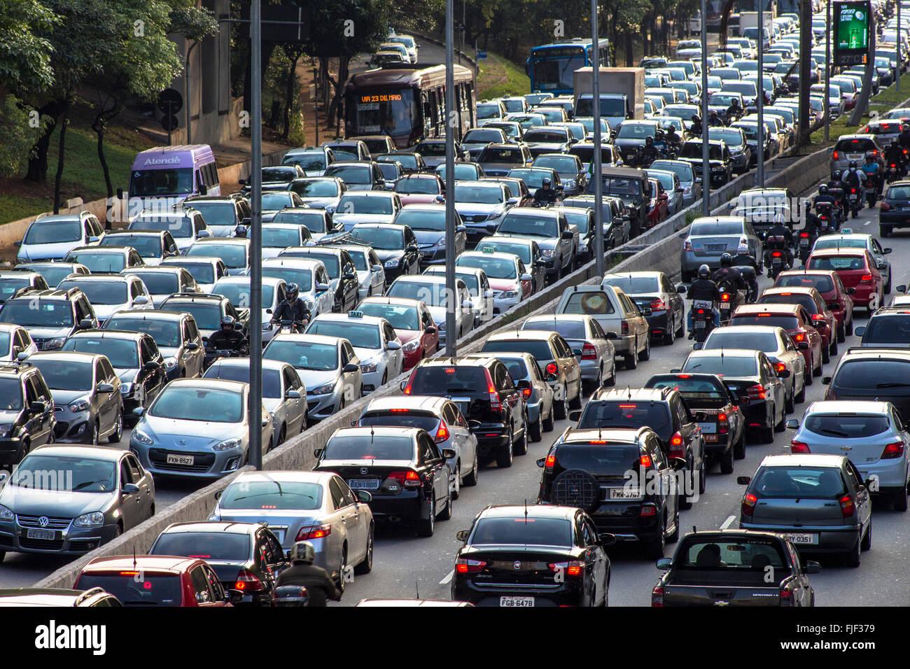 Sao Paulo Highway Traffic Brazil South America Editorial ... |Sao Paulo Brazil Traffic