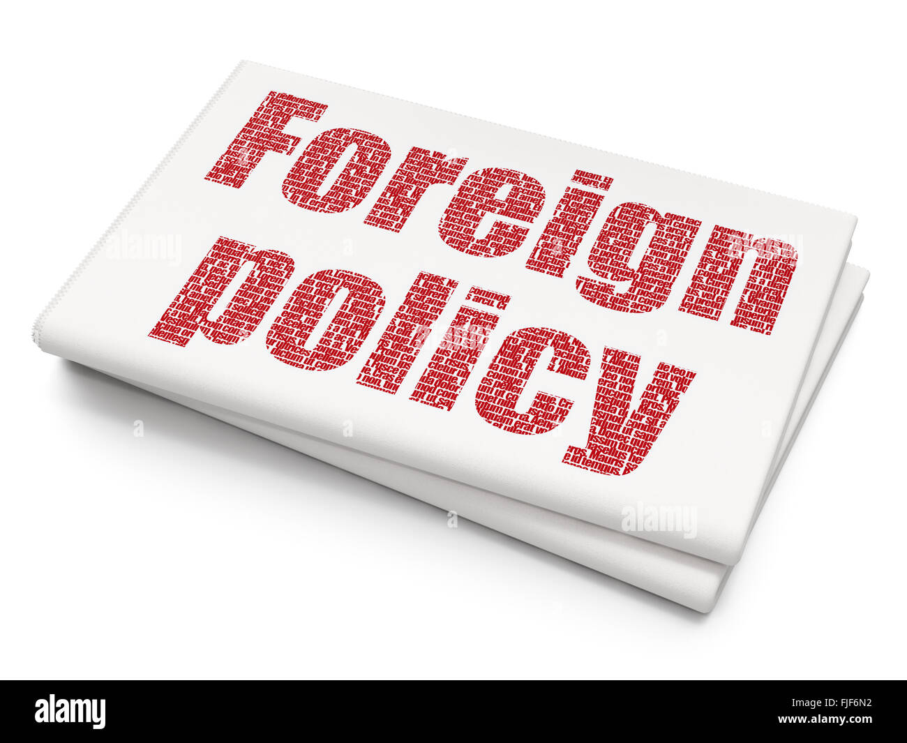 Political Concept Foreign Policy On Blank Newspaper Background