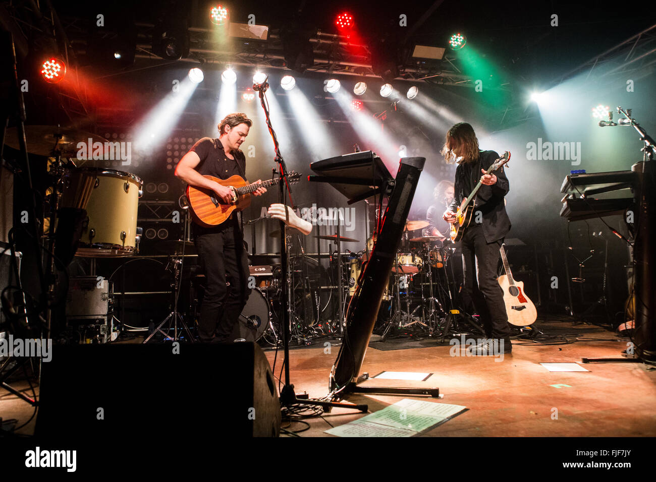 Milan Italy. 01th March 2016. The Canadian indie-rock band HALF MOON RUN performs live on stage at Circolo Magnolia Stock Photo